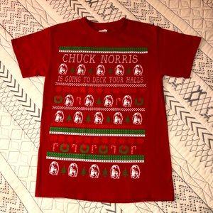 Chuck Norris Christmas tshirt